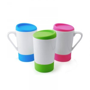Newredis Ceramic Mug With Lid