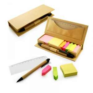 Eco Friendly Sticky Note Pad With Ruler And Pen