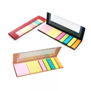 JSS1009 ECO Friendly Sticky Note Pad With Ruler