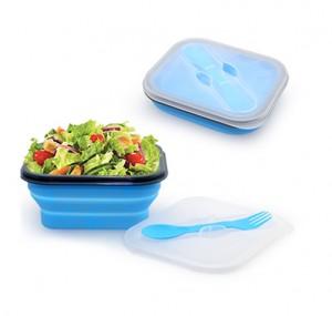 YKI1015 Foldable Lunch Box With Cutlery Set