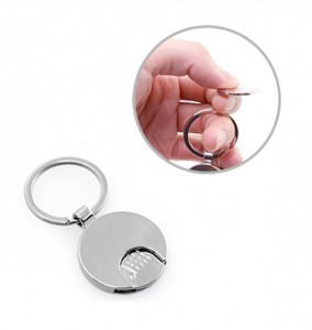 HKY1016 Zoois Keychain With Trolley Coin