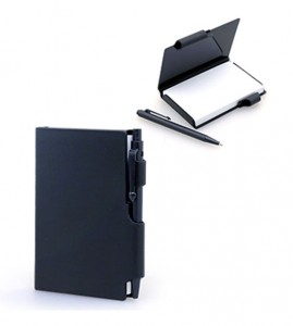 JNO1026 Damplus Mini Hard Cover Notepad With Pen