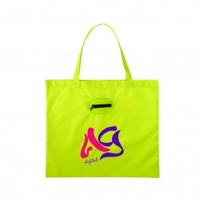 SM 7260 Takeaway Fold Up Shopper Tote_ lime green