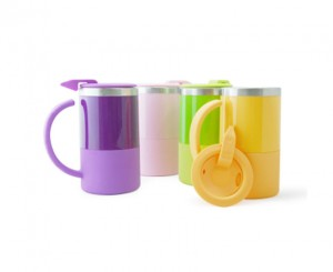 H2312S Kara Double Wall Stainless Steel Mug with Lid