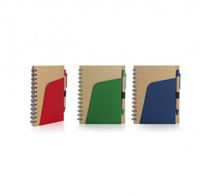 ZNO1028 Eco-Friendly Notebook With Pen And Pocket